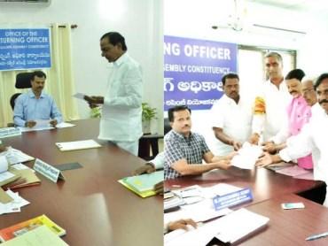 kcr and harish rao nomination in gadwal