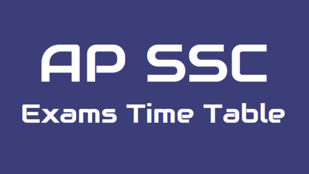 AP SSC March 2019 Exams Time Table Schedule