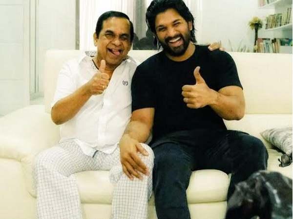 allu arjun visited at bramhi home